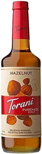 Torani Puremade Syrup - Hazelnut Flavor - PET Bottle - 750 mL