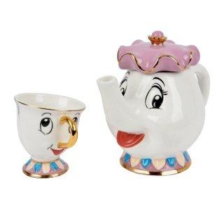 Disney Mrs Potts Teekanne + Tasse Chip Original Die Schöne Und Das Biest