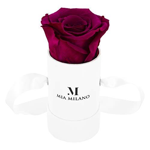 Mia Milano ® Rosenbox mit Infinity Rosen (Versand in neuer stabiler Kartonage) Flowerbox mit konservierten Blumen | 3 Jahre haltbar Infinity Blume