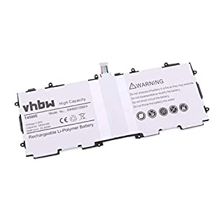 vhbw Batterie Compatible avec Samsung Galaxy Tab 3 10.1, Galaxy Tab3 10.1, GT-P5200, GT-P5210 Tablette remplace AA1D625aS/7-B, T4500E (6800mAh, 3.8V)