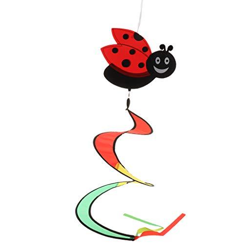 B Baosity Windspiration Windspinner Windspirale Windmill Windspiele - Marienkäfer