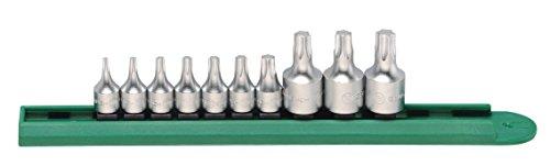 GearWrench 8119610PC. 1/10,2cm & 3/20,3cm Antrieb Stubby Torx Bit Treiber Socket Set, schwarz