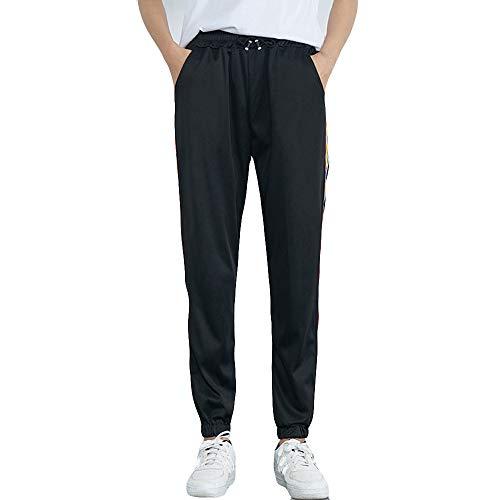 Stretch Casual Pant (SuperSU Frauen Mid-Waist Casual Striped Print Sporthosen Pluderhosen Jogger Pants Damen Hose Easy Sport Pant Stretch Skinny Hosen Pants Casual Streetwear Hosen mit Tunnelzug Streifen Sweathose)