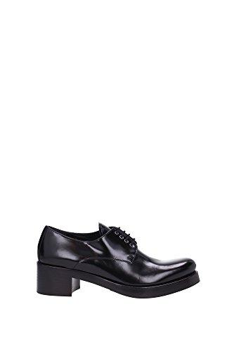 Chaussures à lacets Prada femme en Cuir veau noir - Code modèle: 1E161G P39 F0002 Noir