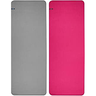 Schreuders Sr Fit Colchoneta Fitness/Yoga Pvc-173X61 Esterilla Mujer, Rosa (Rosa), 173×61