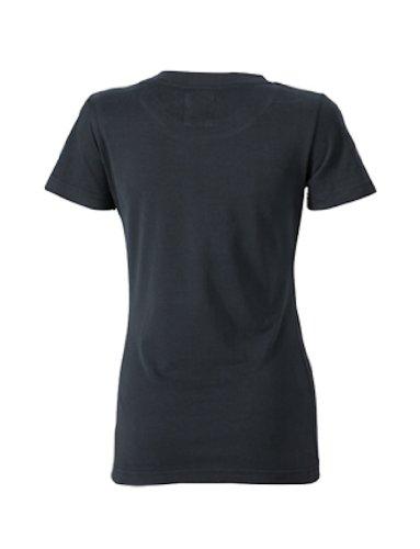 James & Nicholson T-shirt vintage pour femme Noir (black)