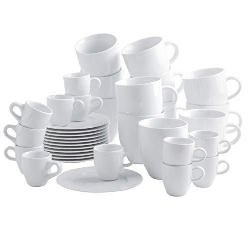 KAHLA 1J0300M9001JC Classics 2. Wahl Set für 12 Personen Tassenset Porzellan 36-teilig weiß XXL Becher + Espressotassen Kaffeebecher groß Henkelbecher