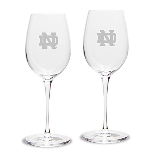 NCAA Unisex Luigi Bormioli Weißweinglas, 340 ml, Titan, 2 Stück, Unisex, Luigi Bormioli 12 oz Titanium White Wine Glass - Set of 2, farblos, 12 oz Drinkware Fan-set