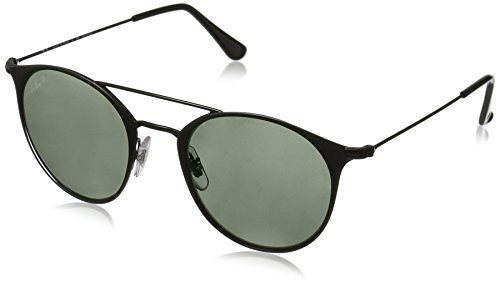 Ray-Ban Unisex-Erwachsene Sonnenbrille 0rb3546 Top Matte Black/Polargreen, 49