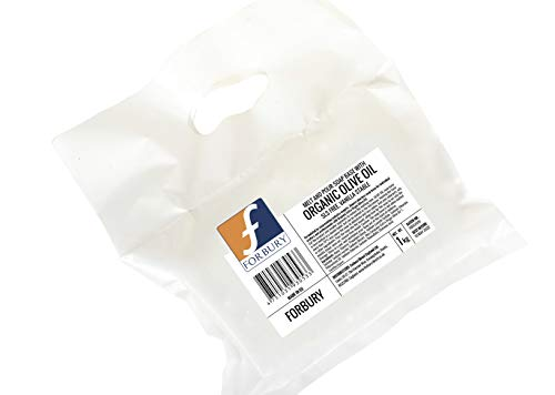 1kg Glycerinseife mit Bio-Olivenöl, Rohseife Seifenbasis (SLS-frei), Organic Olive Oil Forbury Melt and Pour soap base SLS Free
