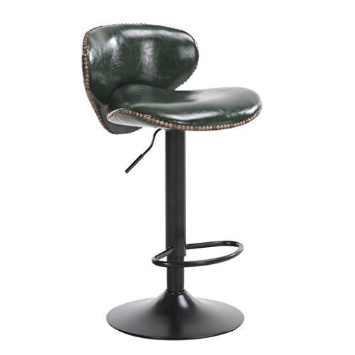 Barhocker Stuhl Fußstütze PU-Rückenlehne drehbar Gasfeder höhenverstellbar für Restaurant Pub   Café Barhocker Metallsockel max. Laden Sie 200 kg
