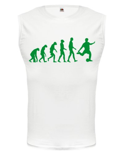 buXsbaum® Tank Top The Evolution of football White-Green