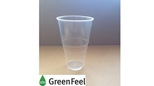 (Hälfte 1/2Pint 0,5l Einweg Bier Plactic Gläser Becher Tumbler klar starken Kunststoff 150mm x 50)