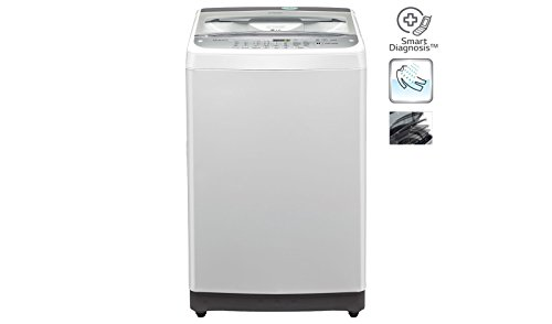 LG 6.5 kg Fully-Automatic Top Loading Washing Machine (T7577TEEL, Silver)