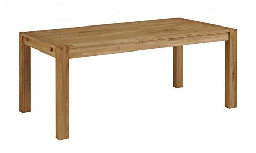 Table rectangulaire coloris Chêne massif - Dim : l 180 x P 76 x H 90 cm -PEGANE-