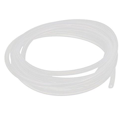 sourcingmap® 2mm x 5mm Silikon Transluzente Rohr Wasser Luftpumpe Schlauch Rohr 2M 6.5Ft Lang (Wasser Rohr Gummi)
