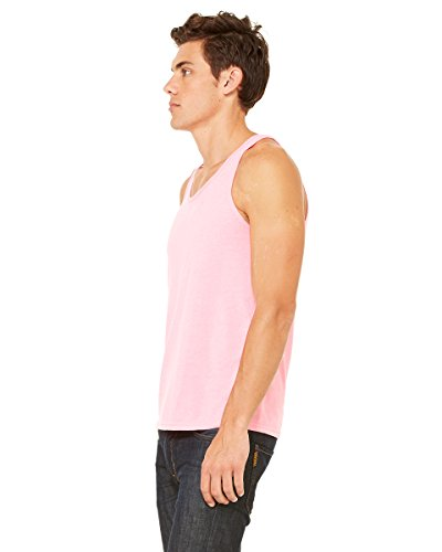 Bella Herren Asymmetrischer Top Grau Grau Rosa - neon pink