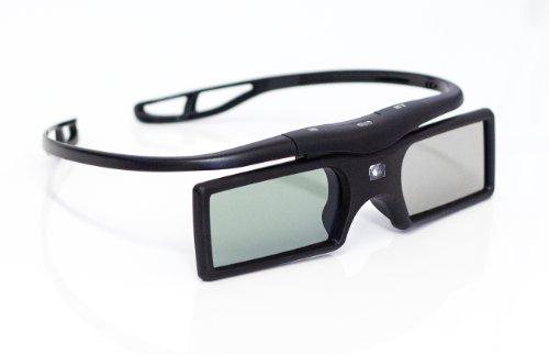 2 x 3D Active Shutter DLP 3D Brille für DLP-Link Projektor Beamer TV (Batteriebetrieb) in schwarz / Marke PRECORN