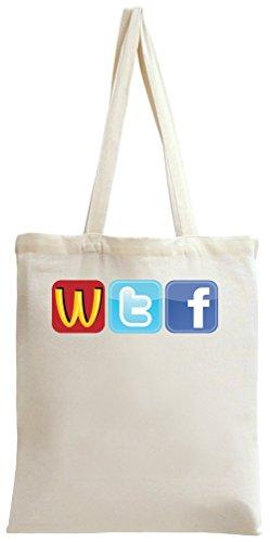 Logo Fun WTF McDonalds Twitter Facecbook Tote Bag