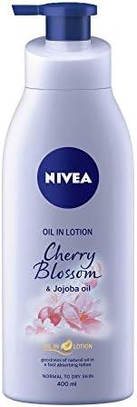 NIVEA Body Lotion, Oil in Lotion Cherry Blossom & Jojoba Oil, 4