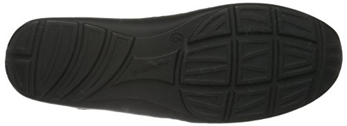Waldläufer Henni, Chaussures à Lacets Femme Noir - Schwarz (Denver Amster Softlack Schwarz)