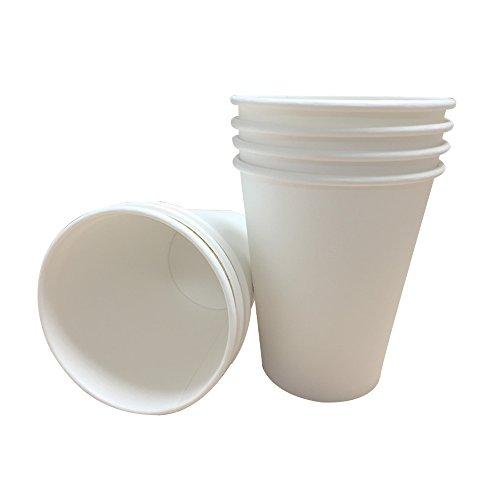100x 340Bianco Singolo da parete carta USA e getta per tè, caffè cappuccino bevande calde Tazza