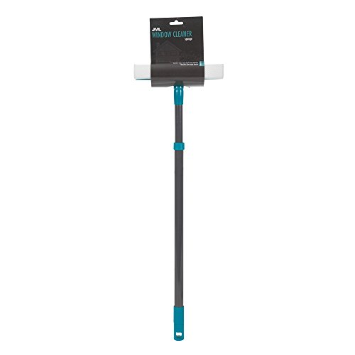 jvl-rubber-squeegee-and-sponge-window-cleaner-with-extendable-pole-teal