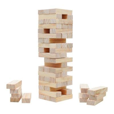 Höhe Turm (Verflixter Turm - Wackelturm - Kiefer - Höhe 285mm - 57 Teile)
