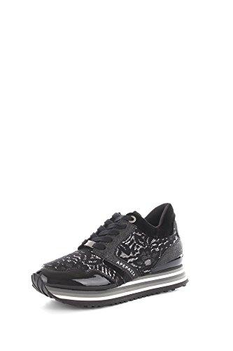 Apepazza RSD01 Sneakers Donna Eco-pelle/Tessuto Nero Nero 37