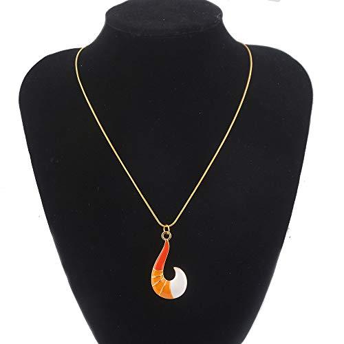 Mesky Cat Noir Halskette Ladybug Miraculous Necklace Anhänger für Damen und Mädchen aus Zinklegierung Weihnachten Geschenk Cosplay Kostüm Zubehör Gelb