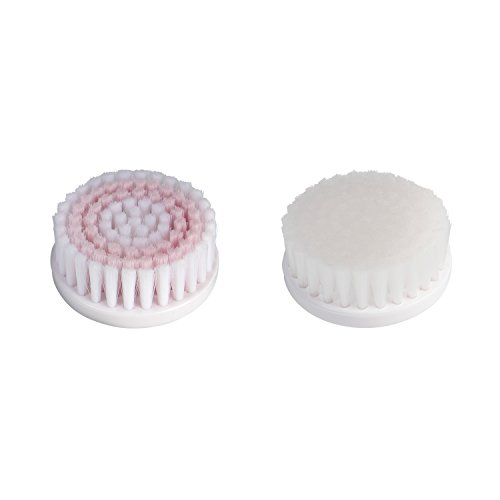 VIDABELLE Ersatzbürsten Set für Ultraschall Gesichtsreinigungsbürste | Ersatzköpfe | Modell VD-5490 | Gesichtsbürsten Ersatz | 2er Pack | Gesichtspflege | weiß