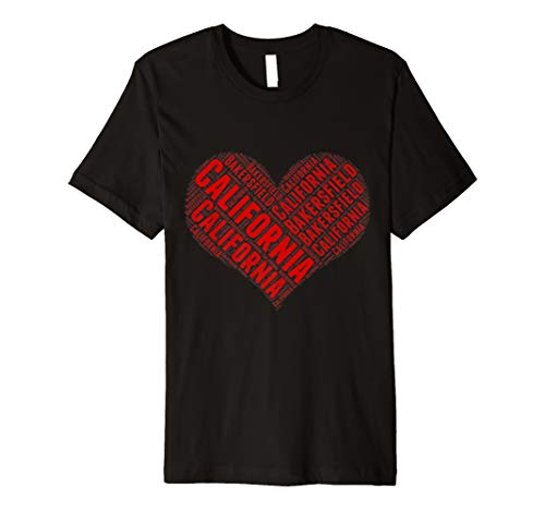 State Heart CALIFORNIA Tshirt BAKERSFIELD Home Tee