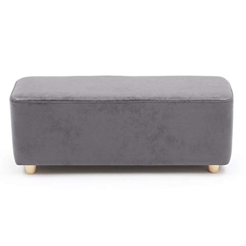 Haushalt Massivholz Schuhe Bank Stoff Sofa Bank Bett Ende Hocker, Bekleidungsgeschäft Umkleidekabine Resthocker CQOQ (Color : Gray, Size : 90×35cm)