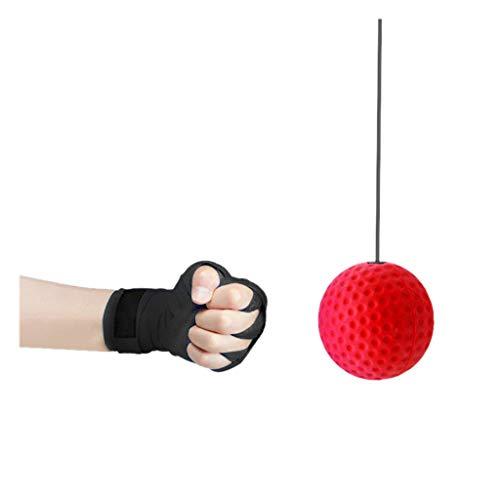VICKY-HOHO 2019 Neue Boxen punsch übung kampfreaktion Reflex Ball hott,2019 New Boxing Punch Exercise Fight Ball React Reflex Ball Hott (A)
