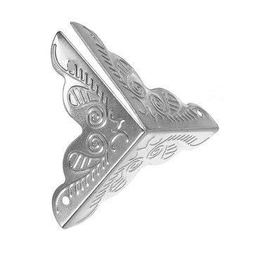Rattan-muster (CCChaRLes 30 Pcs Elegante Dekorative Ecke Protektoren Klammern Rand Abdeckung Rattan Muster 3 Farben - Silber)