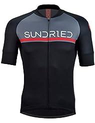 Sundried La Camisa de Manga Corta para Hombre Jersey de Ciclo Bici del Camino Top Bicicleta