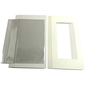 A3 or 16 x 12 Black, A3 Plus a Range of Colours Outside Size 20 x 16 for Choice of Inside Sizes 10 x Pack of Picture//Photo Mounts with Backs /& Clear Bags