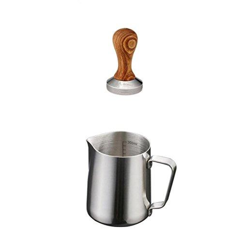 Barista 1 Licht (Sharplace Edelstahl Milch Schaum Latte Krug 350ml + Kaffeebohne Presse Werkzeug Set)