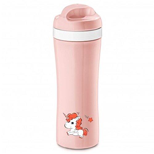 KOZIOL Trinkflasche Oase EINHORN Kindertrinkflasche Wasserflasche Unicorn rosa, 3701413