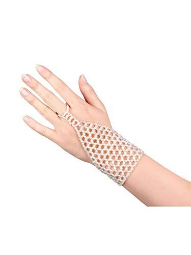 Gangster Kostüm Kleid Moll - Perlen Choker und Finger Handschuh Griechische Göttin Fancy Kleid Zubehör multi