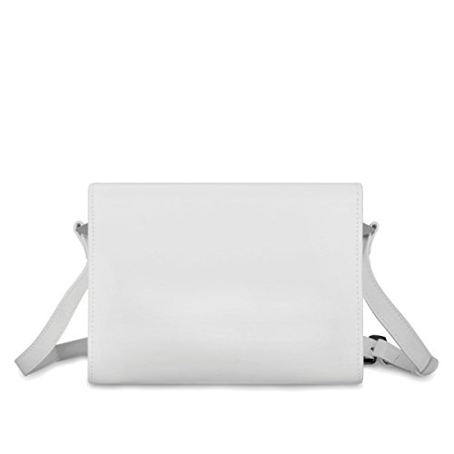 Dame Business Einfache Umhängetasche Leder Damen Square Work Aktentasche White Retro Travel Bag pZCqOAx