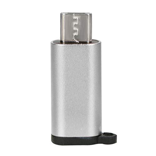 Zinniaya Mini Adaptador de Aluminio portátil USB-C a Micro USB con Ll