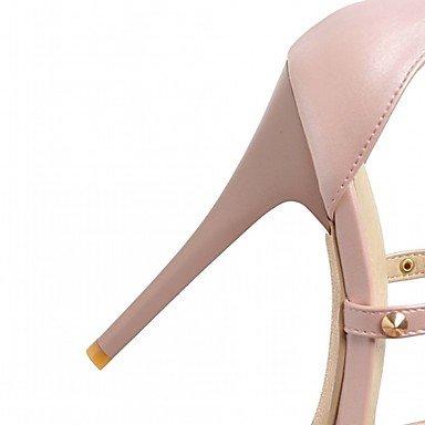 LvYuan Da donna Sandali Finta pelle PU (Poliuretano) Estate Autunno Footing Fibbia A stiletto Bianco Nero Rosa 10 - 12 cm Black