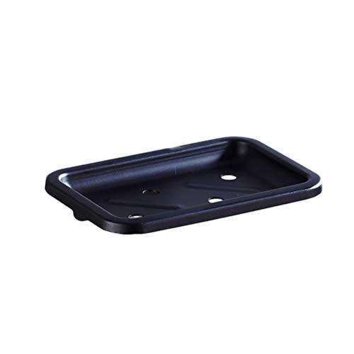 OUNONA Vintage Style Black Wall Mounted Bad Dusche Seifenschale Halter Soap Basket Antique Aluminium Soap Regal Fach Net für Home Bad (schwarz) -