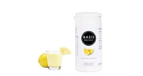 Basenpulver + hochwertige Ballaststoffe ohne Zucker und ohne Süßungsmittel mit pflanzlichem Aroma (Zitrone), 100% vegan, gluten- und laktosefrei mit zugesetztem Inulin