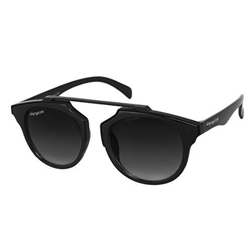 Elegante\' Black Gradient Unisex Round Sunglasses (Model : elt-11001/G)