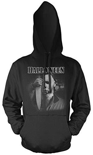 (Halloween Männer und Herren Kapuzenpullover | Kostüm Michael Myers Party Horror Kult | M4 (XL, Schwarz))