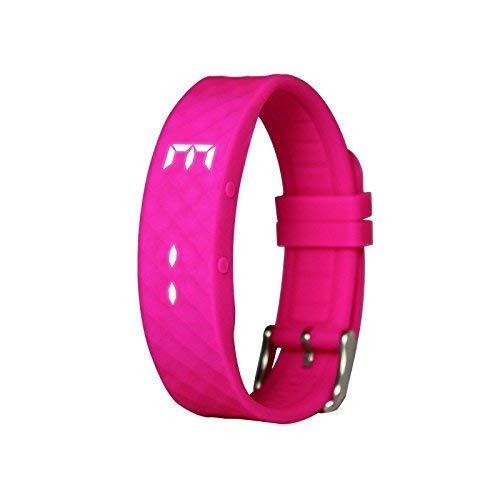 SLSH Sport Kids Smart Fitness Band, Silikon Smart Watch, Schrittzähler für Kinder, Jungen und Mädchen, Bildung Spielzeug (Pink)