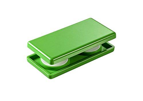 Magnetgriff, Gardinenmagnet, Gardinengriff, Griff für Rollos, Schiebevorhänge und Gardinen, Größe 4 x 8 cm, grün