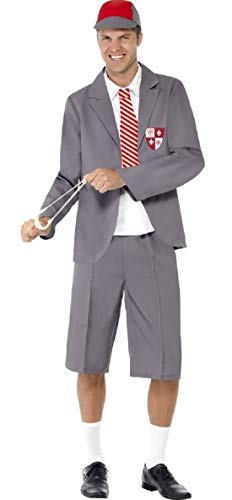 Kostüm Herren Naughty - Herren Naughty School Boy Schüler Uniform Hirsch Do Geek Nerd Kostüm, M-L